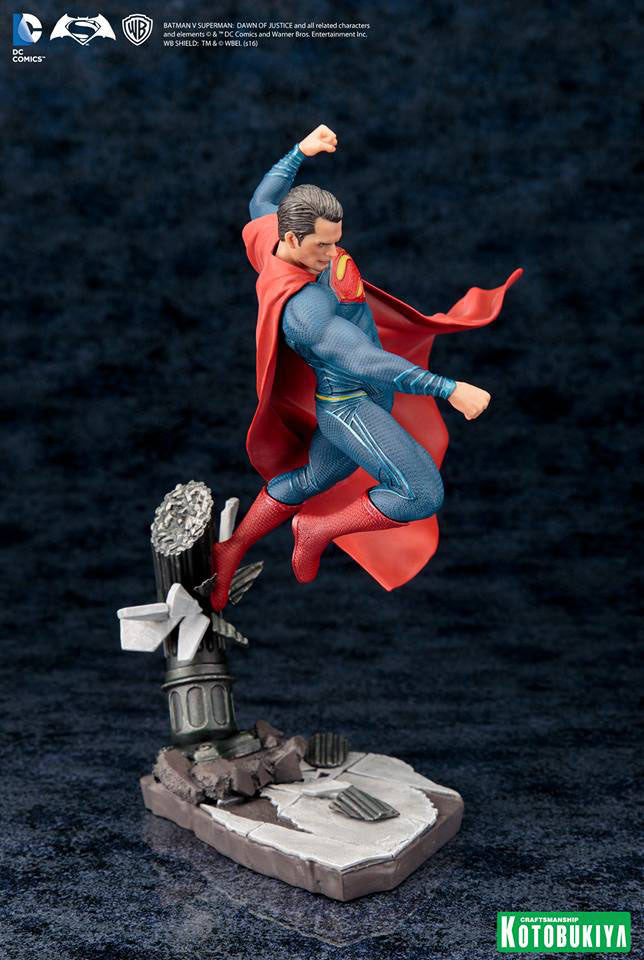 Dawn of Justice Superman ArtFX+ Figure by Kotobukiya-Kotobukiya- www.superherotoystore.com-Statue - 6