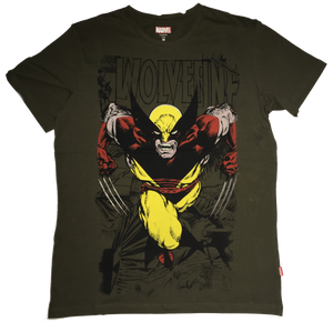 Wolverine Masked Green T-shirt-Bio World- www.superherotoystore.com-T-Shirt