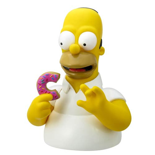 The Simpsons Bust Banks - Homer with Donut-Monogram International- www.superherotoystore.com-Bust Bank