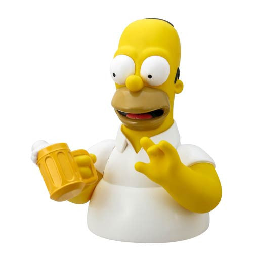 The Simpsons Bust Banks - Homer with Beer-Monogram International- www.superherotoystore.com-Bust Bank