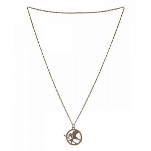 Mocking Jay Bronze Necklace