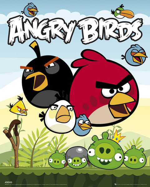 Angry Birds group Mini Poster-Superherotoystore.com- www.superherotoystore.com-Posters