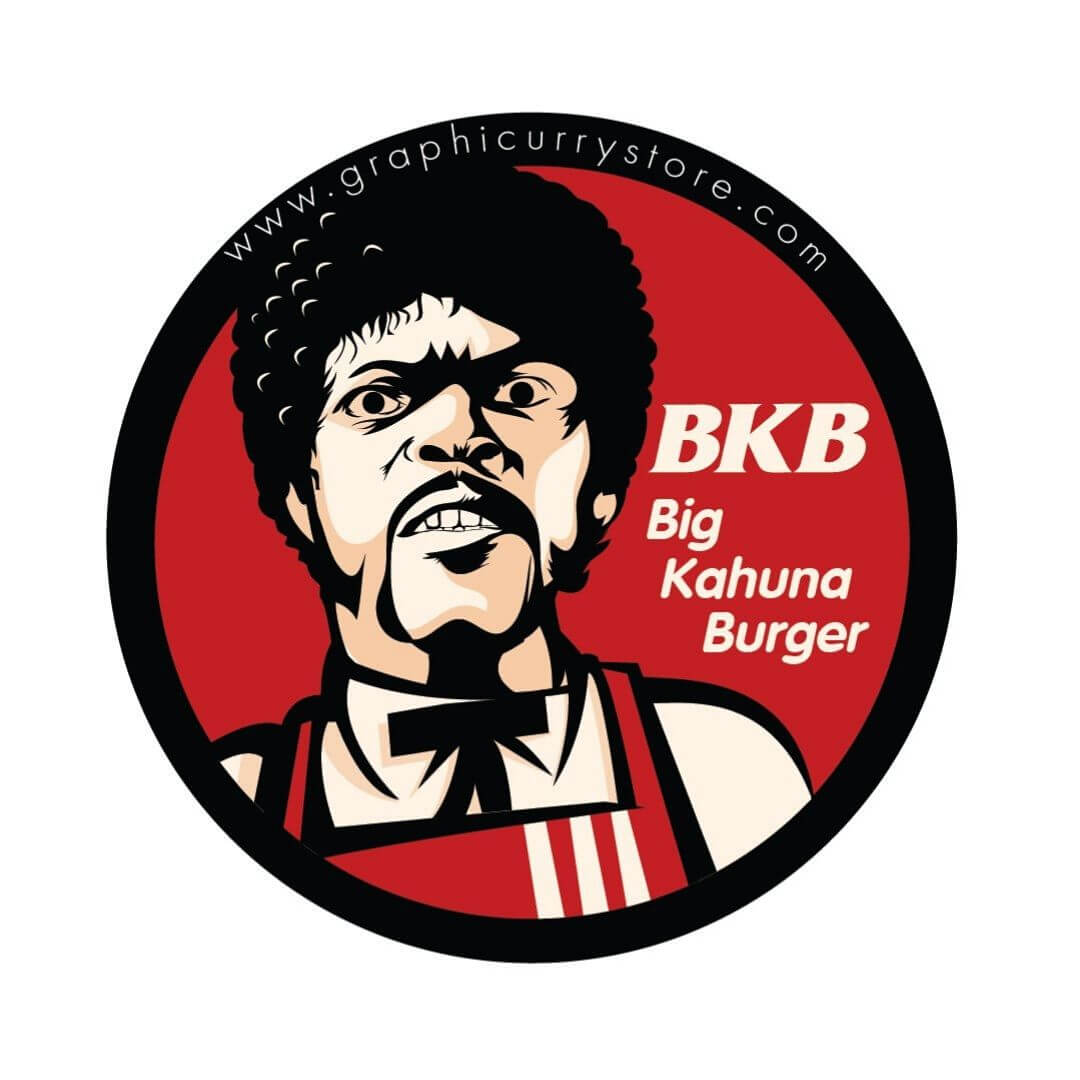 Kahuna Burger Badge -Graphicurry - India - www.superherotoystore.com