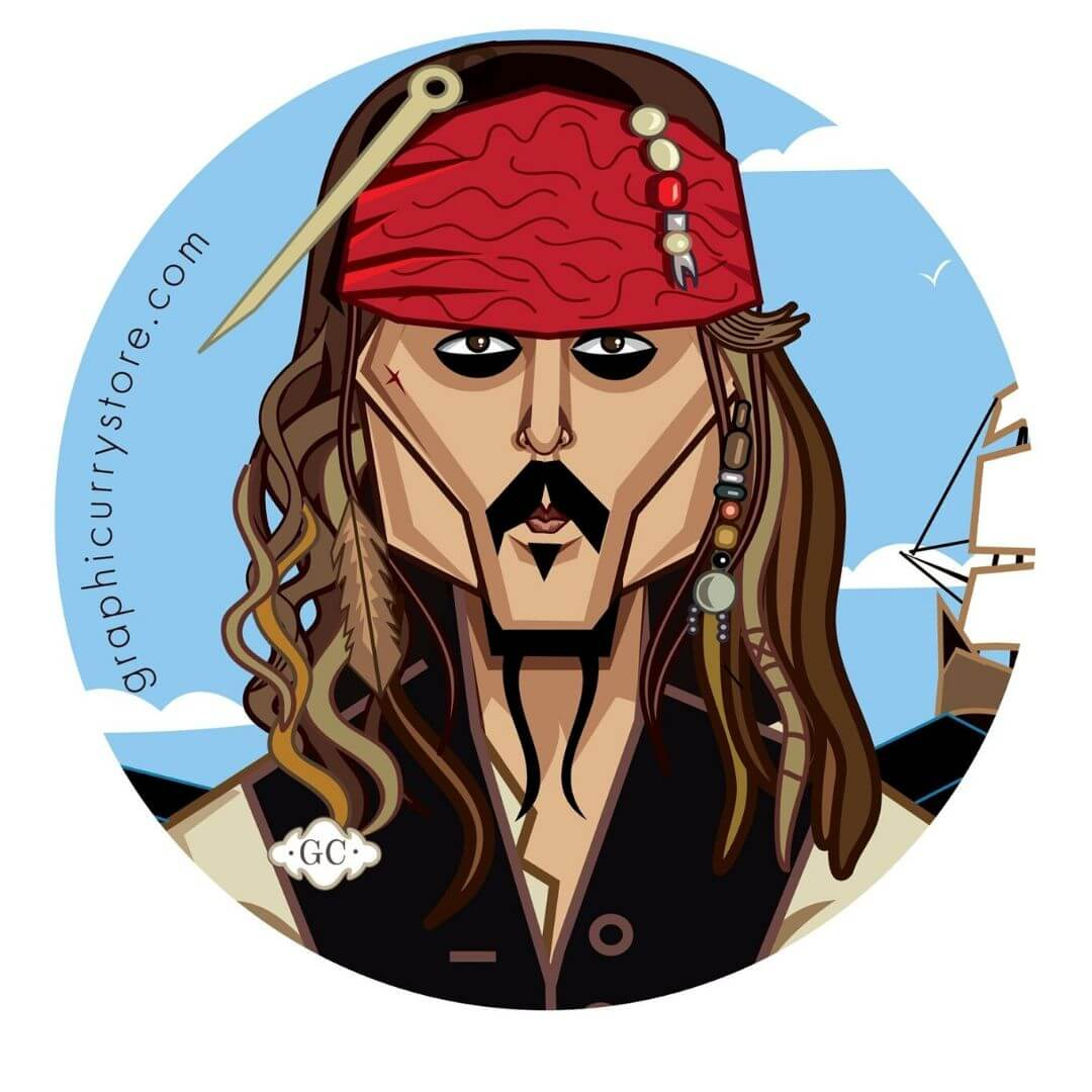 The Pirate One Badge by Graphicurry