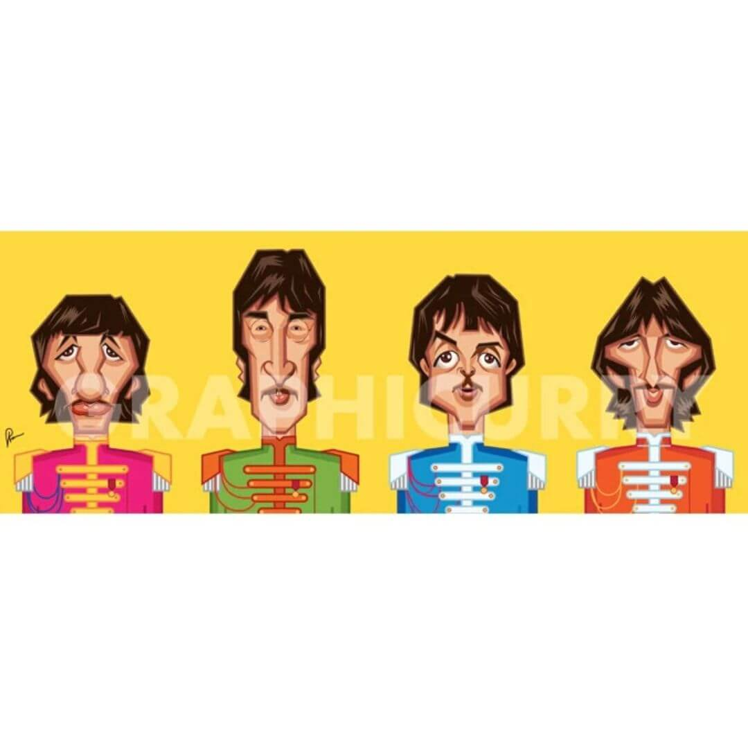 Beatles Tribute Wall Art -Graphicurry - India - www.superherotoystore.com