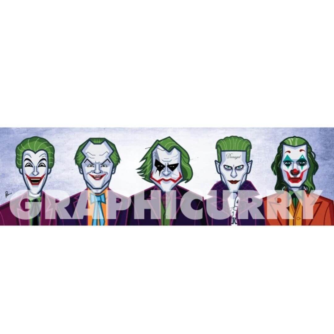 Evolution of Clown Wall Art -Graphicurry - India - www.superherotoystore.com