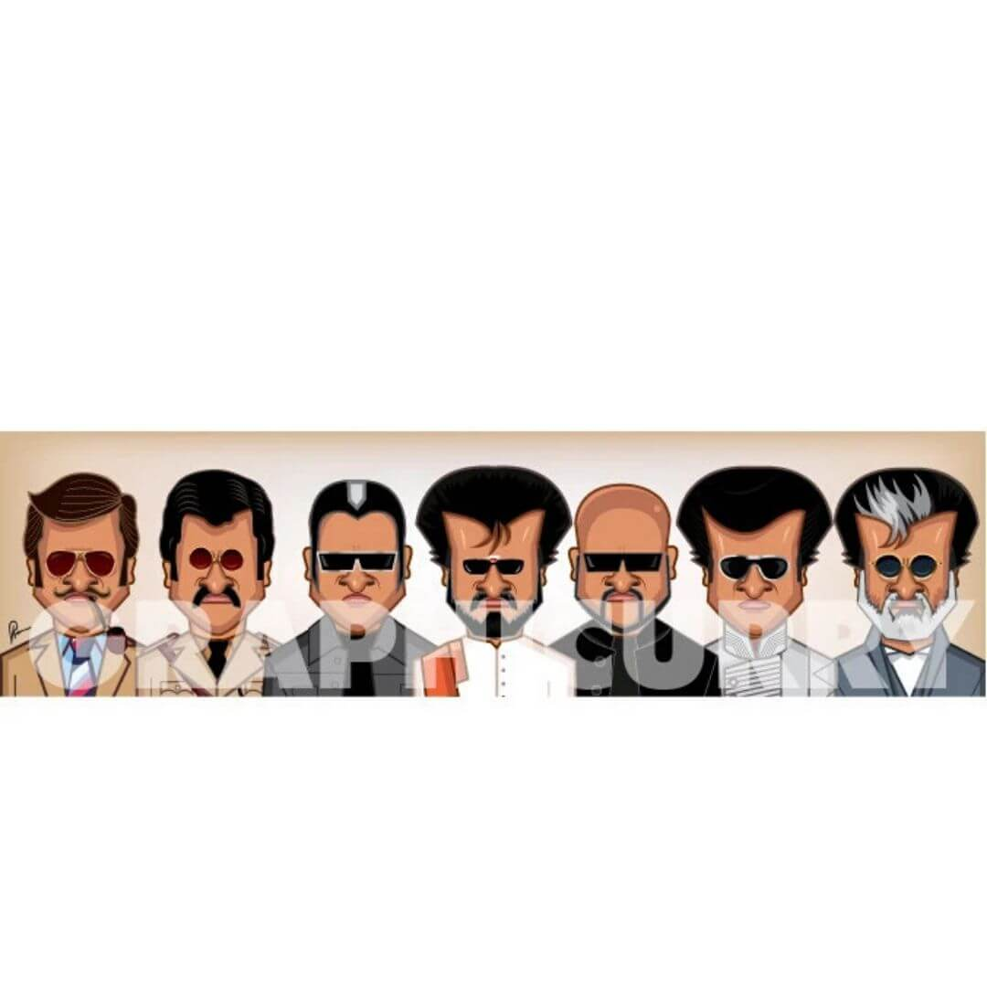 Evolution of Rajini Wall Art -Graphicurry - India - www.superherotoystore.com