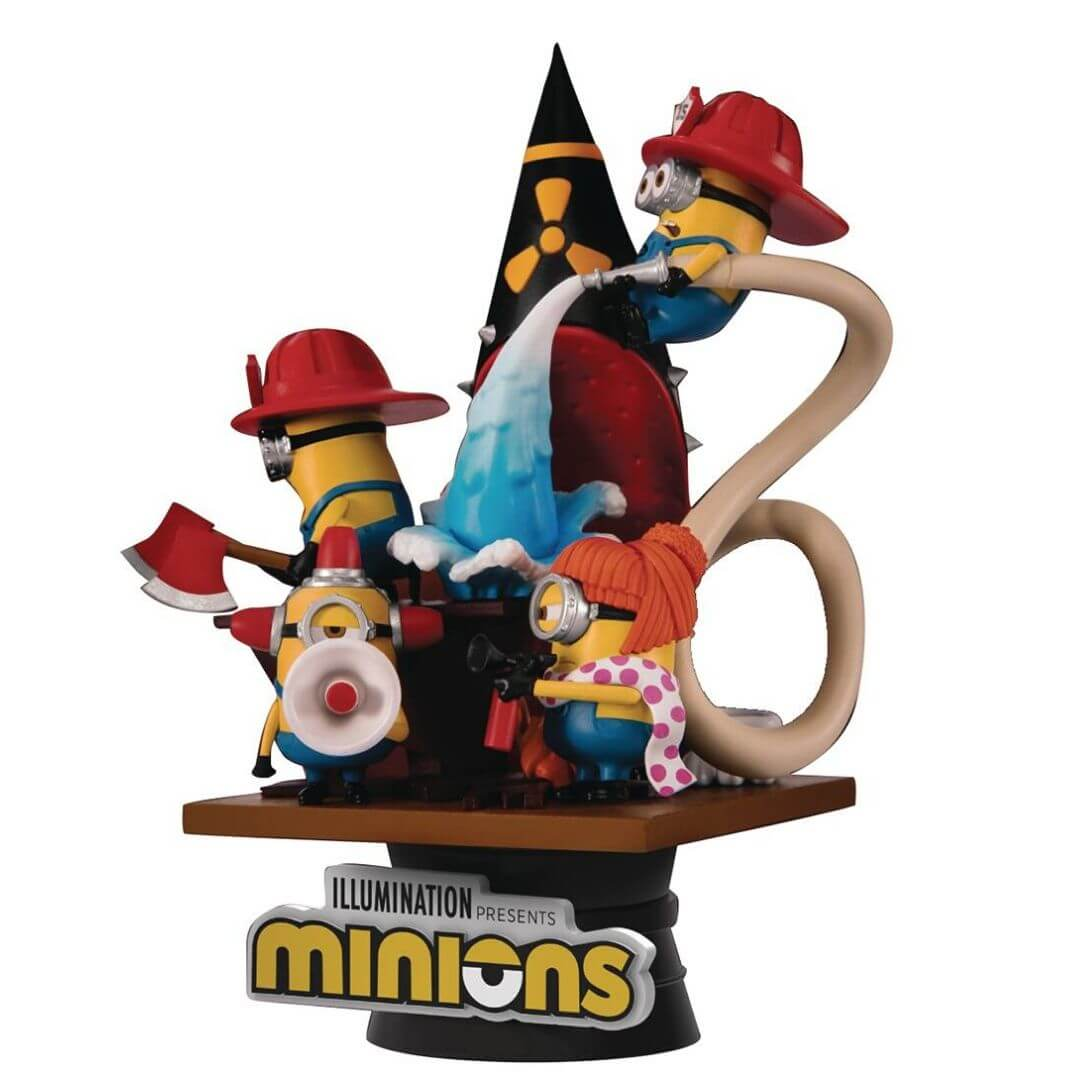 Minions Firefighter Diorama Set by Beast Kingdom -Beast Kingdom - India - www.superherotoystore.com