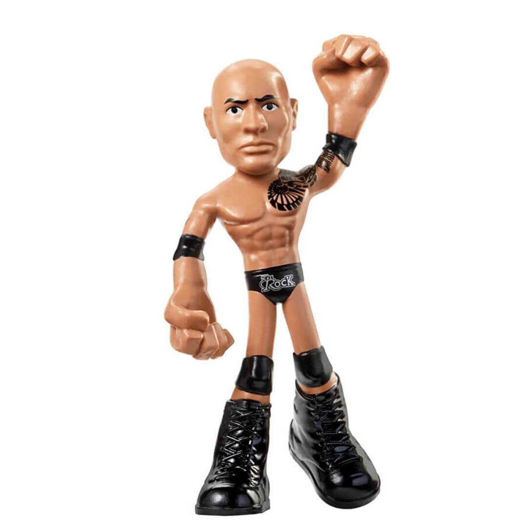 WWE 4-inch Bendable Rock Figure by Mattel -Mattel - India - www.superherotoystore.com