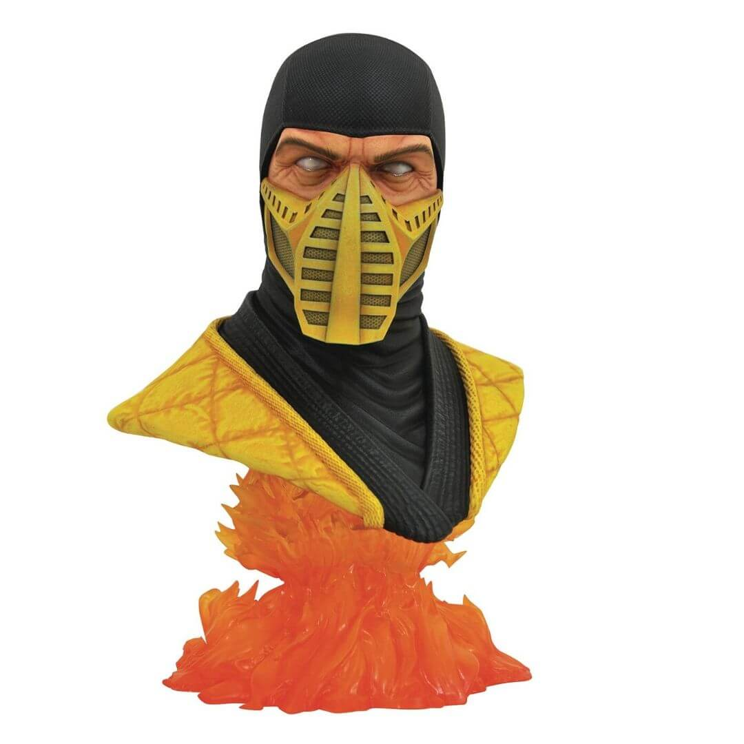 Legends in 3D Mortal Kombat Scorpion 1:2 Scale Bust by Dimaond Select Toys -Diamond Select toys - India - www.superherotoystore.com