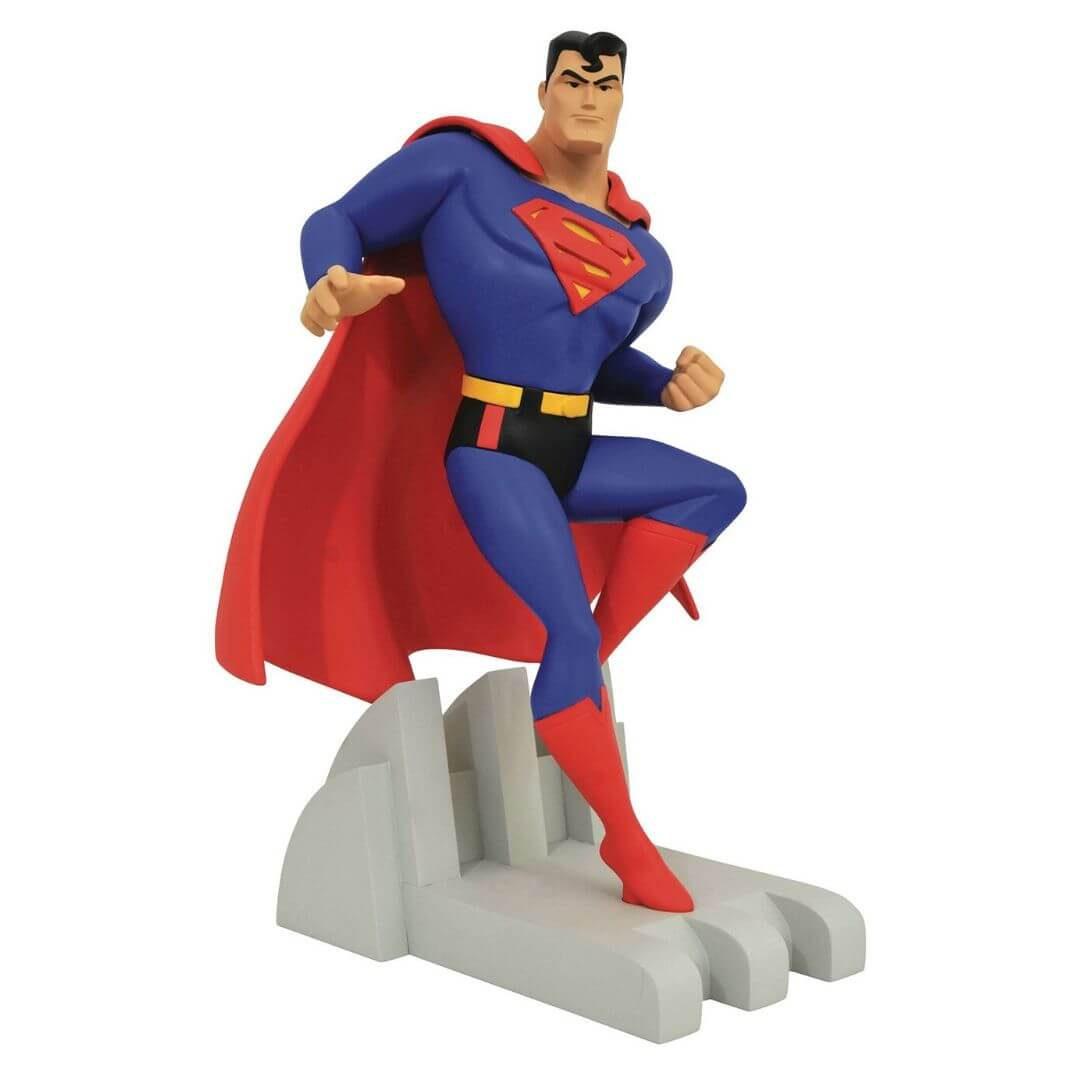 DC Premier Collection Animated Series Superman Statue by Diamond Select Toys -Diamond Select toys - India - www.superherotoystore.com