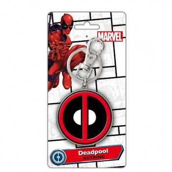 Deadpool Logo Pewter Colour-Bombaymerch- www.superherotoystore.com-Keychains