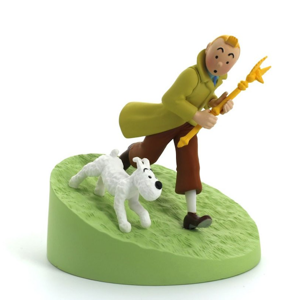 Tintin holding the Sceptre Box Scene by Moulinsart-Moulinsart- www.superherotoystore.com-Statue