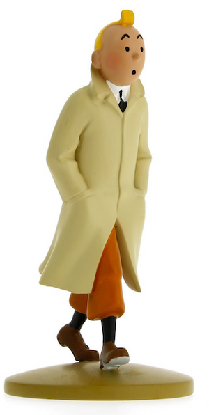 Tintin Walking in Trenchcoat Figure by Moulinsart-Moulinsart- www.superherotoystore.com-Statue