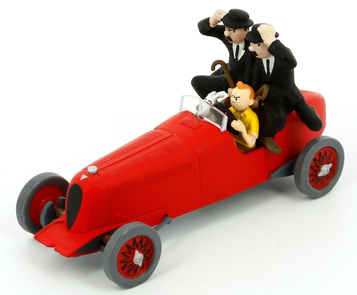 Tintin in Red Racing Car Figurine by Moulinsart -Moulinsart - India - www.superherotoystore.com