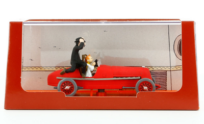 Tintin in Red Racing Car Figurine by Moulinsart-Moulinsart- www.superherotoystore.com-Statue - 2