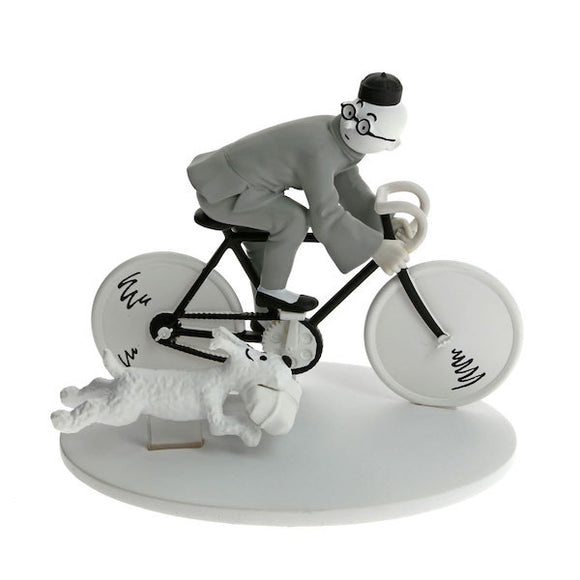 Tintin On Bike with Snowy Figure by Moulinsart