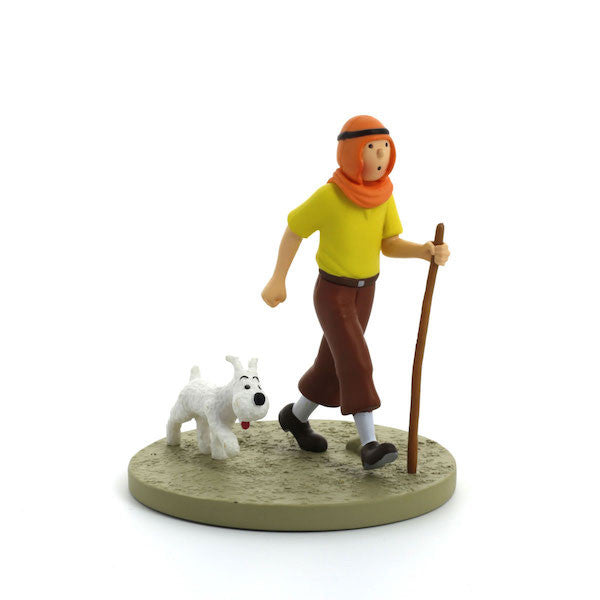 TinTin Box Scene: Tintin and Snowy in Desert by Moulinsart