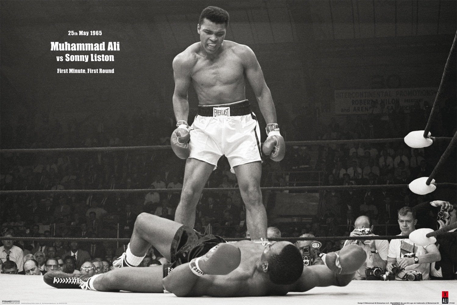Muhammad Ali vs Sonny Liston Mini Poster -Superherotoystore.com - India - www.superherotoystore.com