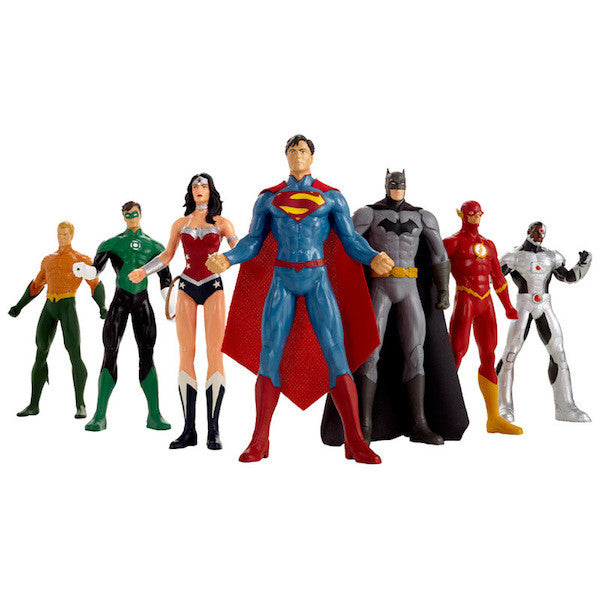 Justice League Bendable Action Figure 7 Piece Set by NJ Croce