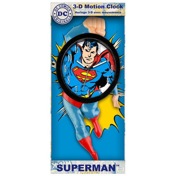 Superman 3D Motion Clock by NJ Croce