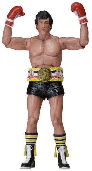 Rocky 40th Anniversary: Rocky in Black Trunks Figure by Neca-NECA- www.superherotoystore.com-Action Figure - 1