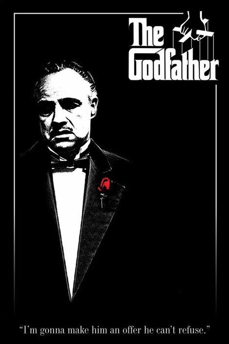 The Godfather (Red Rose) Maxi Poster-Superherotoystore.com- www.superherotoystore.com-Posters