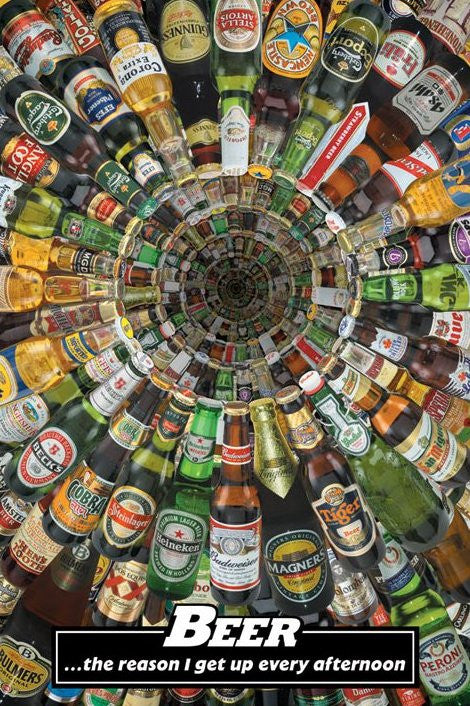 Beer - The reason i get up Maxi Poster-Superherotoystore.com- www.superherotoystore.com-Posters