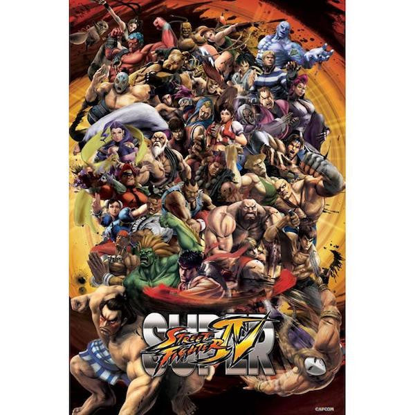 Street Fighter Maxi Poster-Superherotoystore.com- www.superherotoystore.com-Posters