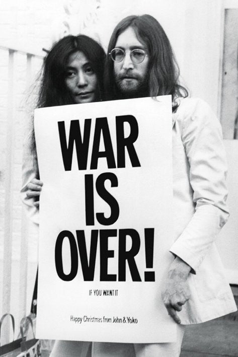 John Lennon (War Is Over) Maxi Poster -Superherotoystore.com - India - www.superherotoystore.com
