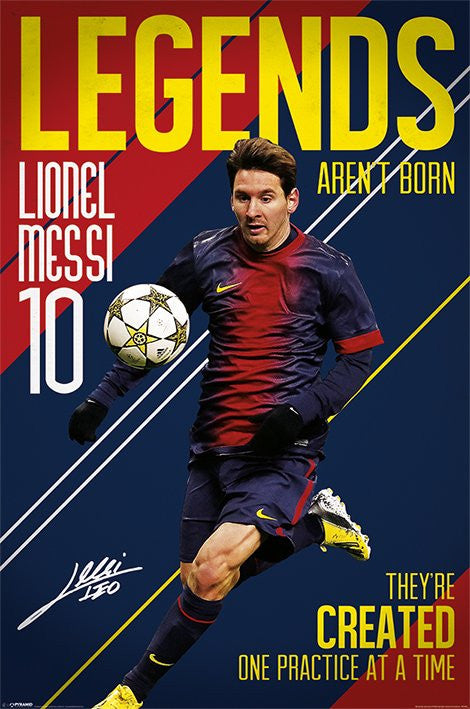 Messi (Legends Aren't Born) Maxi Poster by Pyramid -Superherotoystore.com - India - www.superherotoystore.com