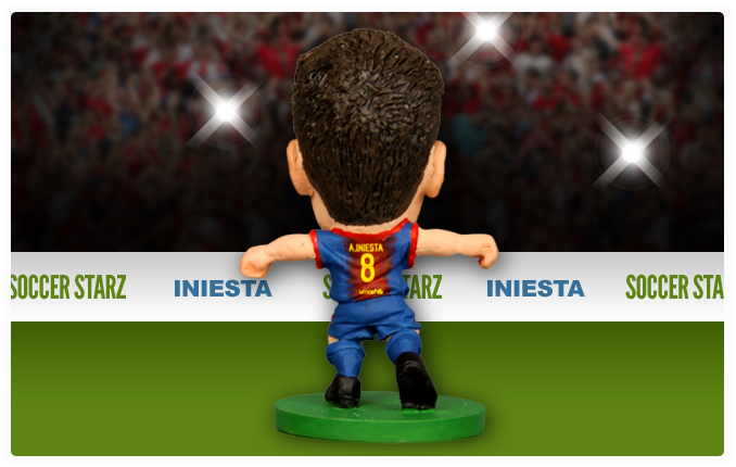 Andrés Iniesta - Barcelona Home Kit-Soccer Starz- www.superherotoystore.com-Action Figure - 2