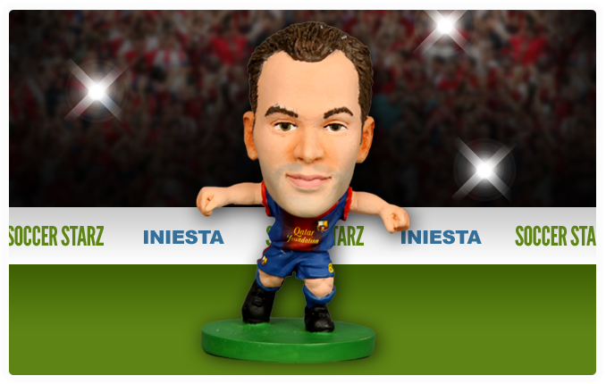 Andrés Iniesta - Barcelona Home Kit-Soccer Starz- www.superherotoystore.com-Action Figure - 4
