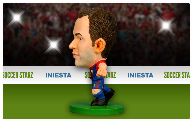 Andrés Iniesta - Barcelona Home Kit-Soccer Starz- www.superherotoystore.com-Action Figure - 3
