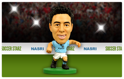 Nasri - Manchester City Home Kit-Soccer Starz- www.superherotoystore.com-Action Figure - 2