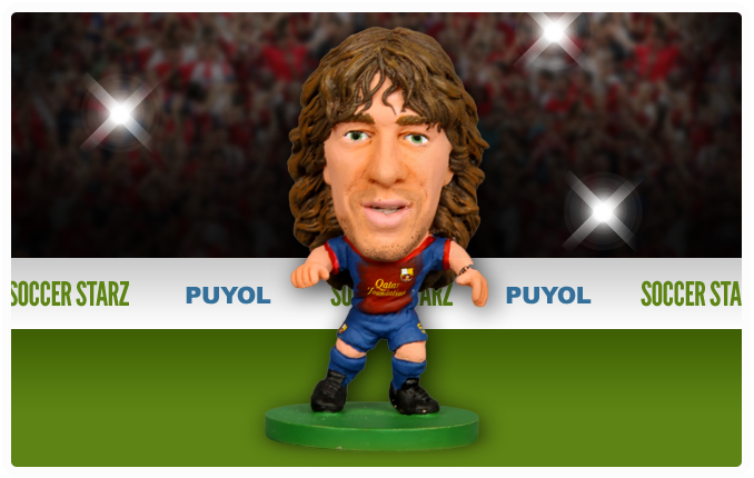 Carles Puyol - Barcelona Home Kit-Soccer Starz- www.superherotoystore.com-Action Figure - 3