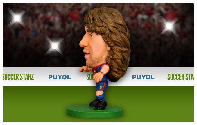 Carles Puyol - Barcelona Home Kit-Soccer Starz- www.superherotoystore.com-Action Figure - 2