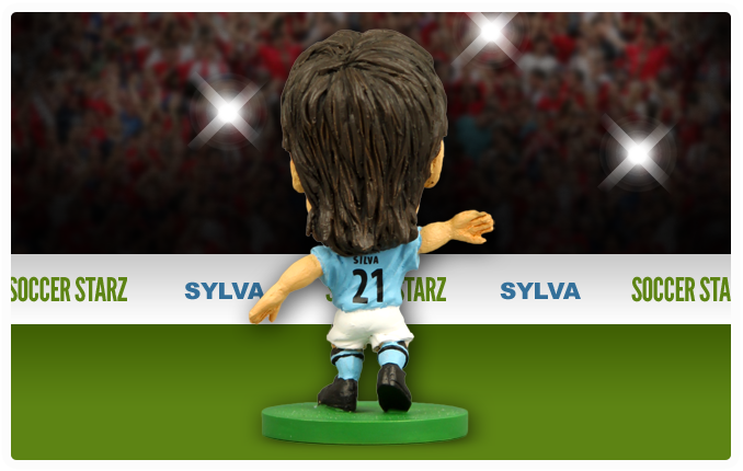 David Silva - Manchester City Home Kit-Soccer Starz- www.superherotoystore.com-Action Figure - 3