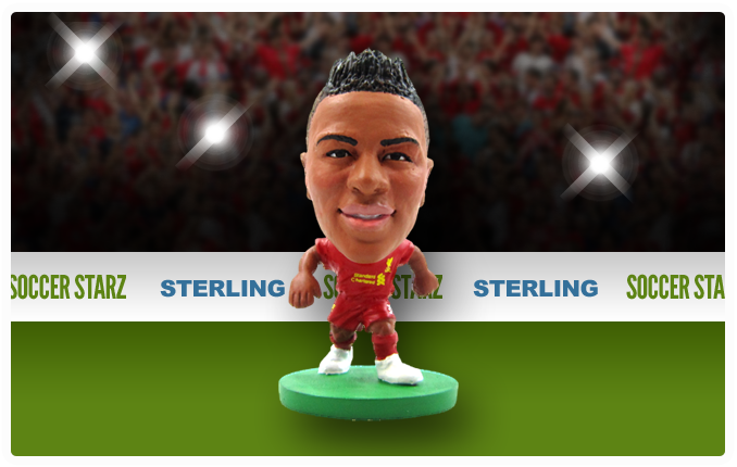 Raheem Sterling - Liverpool Home Kit-Soccer Starz- www.superherotoystore.com-Action Figure - 2