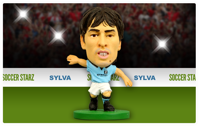 David Silva - Manchester City Home Kit-Soccer Starz- www.superherotoystore.com-Action Figure - 2