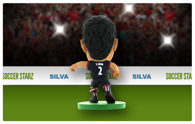 Thiago Silva - Paris St Germain Home Kit-Soccer Starz- www.superherotoystore.com-Action Figure - 2