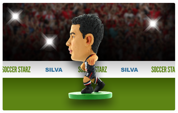 Thiago Silva - Paris St Germain Home Kit-Soccer Starz- www.superherotoystore.com-Action Figure - 3