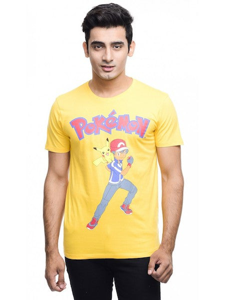Pokemon Yellow Half Sleeve T-Shirt by Bio World