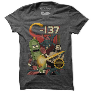 Rick & Morty C-137 Official Round Neck Short Sleeve T-Shirt by Redwolf