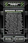 Restricted Area - Gaming Zone Maxi Poster-Superherotoystore.com- www.superherotoystore.com-Posters