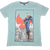Superman Nile Blue T-shirt by Bio World-Bio World- www.superherotoystore.com-T-Shirt