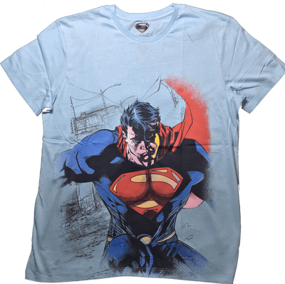 Superman Topaz Blue T-shirt by Bio World -Bio World - India - www.superherotoystore.com