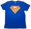 Superman Logo  - Royal Blue T-shirt-Bio World- www.superherotoystore.com-T-Shirt - 1