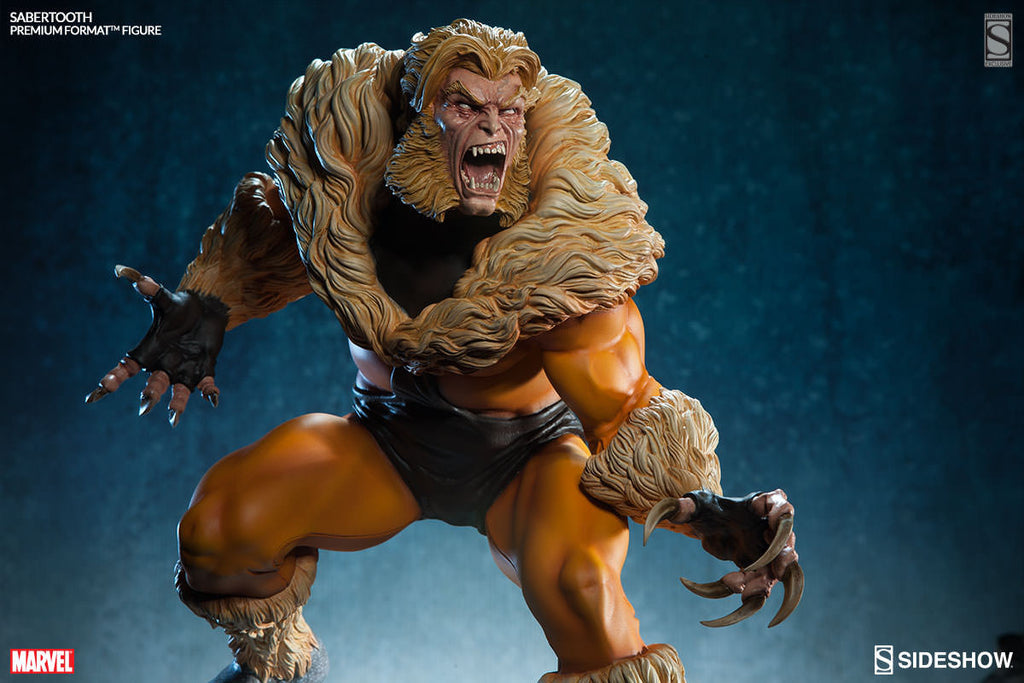 Sabretooth Premium Format Statue-Sideshow Collectibles- www.superherotoystore.com-Statue - 7