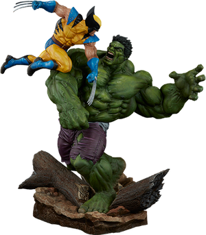 Hulk Vs Wolverine Maquette Statue by Sideshow Collectibles-Sideshow Collectibles- www.superherotoystore.com-Statue - 1